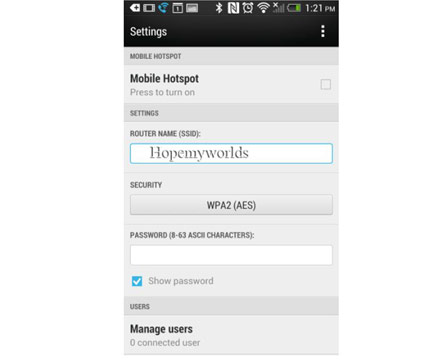 HTC U11 WiFi Hotspot Setup