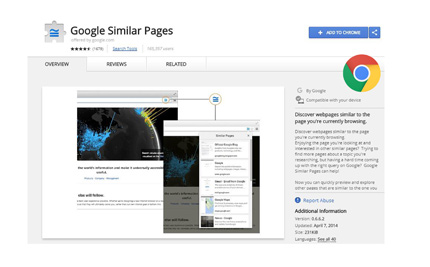 Google Similar Pages Extension