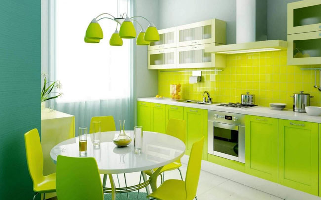 Apple Green Dining room color