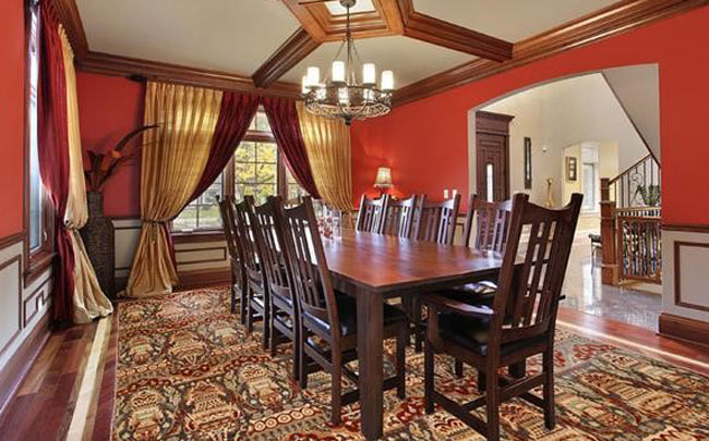 Deep Red Dining room color