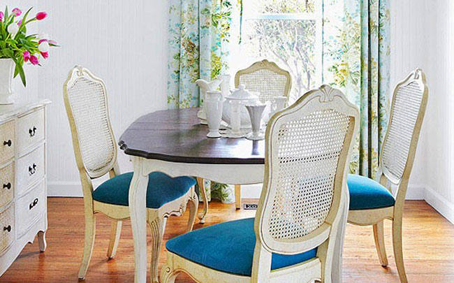 Two Tone Design Dining Room