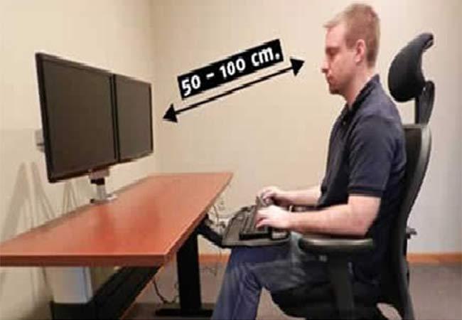 Locate the monitor accordingly
