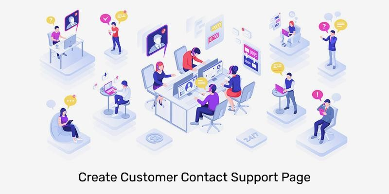 Create Customer Contact Support Page