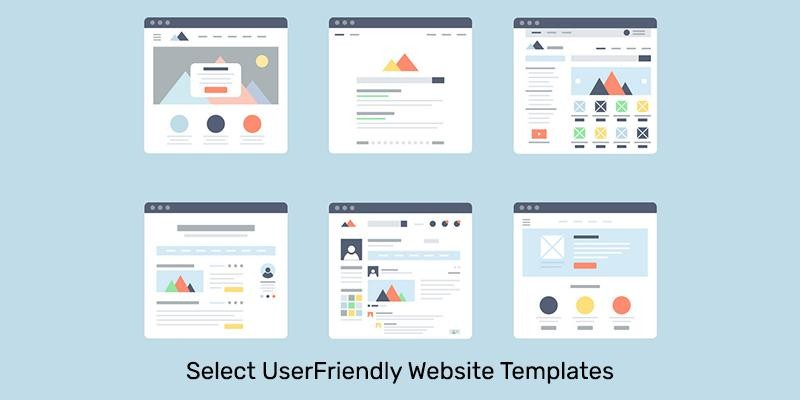 Select UserFriendly Website Templates